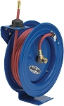 Cox Reels Aluminum hose reel with spring rewind and 1/4 inch X 50 Feet of 300 PSI air hose included