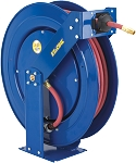 Spring Rewind EZ-Coil hose reel for High Pressure Grease hose 3/8 inch X 50 Feet 4000 PSI - with hose included (SAE 100R16)