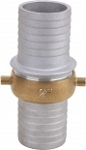 2 inch NPSM thread aluminum with brass nut short shank couplings - complete set