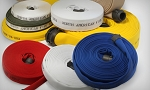 Assorted colors + white Double jacket fire hose 1-1/2 inch x 100 feet coupled with M & F NST-NH couplings USA
