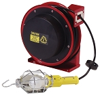 Reelcraft Retractable Cord Reel 16 AWG / 3 Cond  x 50ft, 13 AMP, Incandescent Light, With Cord