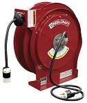 Reelcraft Retractable Cord Reel 12 AWG / 3 Cond  x 50ft, 20 AMP, Single Outlet, With Cord