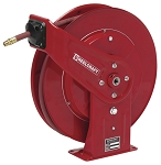 Reelcraft Retractable Hose Reel 1/2 x 50ft, 300 psi, for Air & Water service with hose included