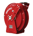 Reelcraft Heavy Duty Spring Retractable Hose Reel 3/8 x 50ft, 3000 psi, for Oil service - hose not included