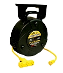 Reelcraft Retractable Cord Reel 14 AWG / 3 Cond  x 50ft, 13 AMP, Triple Outlet, With Cord