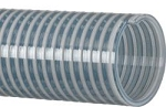 Clear PVC water suction hose assembly 2 inch I.D. X 15 Feet Long with Part C & E aluminum cam lock hose ends