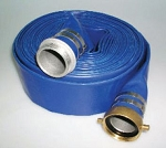 3 inch x 50FT Blue PVC Water Discharge hose with M&F Pin-Lug NPSH couplings