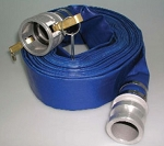 2 inch x 50FT Blue PVC Water Discharge hose with C&E Aluminum Cam-lock Hose Ends