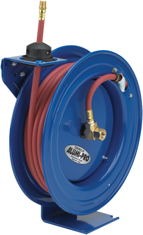 Cox Reels Aluminum hose reel with spring rewind holds 1/2 inch X 30 Feet 300 PSI air hose not included