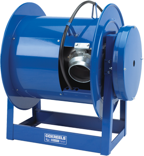 Cox Reels Exhaust hose reel with spring rewind for 6 inch X 20 Feet of ventilation hose