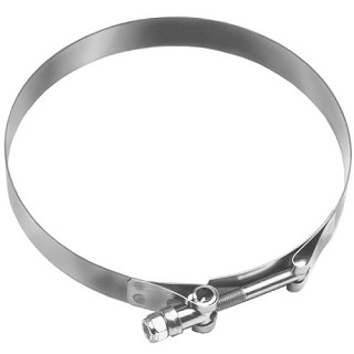 8 2/64 - 8 20/64 Stainless Steel T-Bolt Hose Clamp