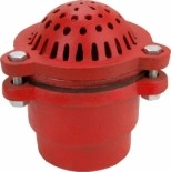 6 inch Pump Foot Valve Cast iron painted red