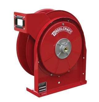 Reelcraft Compact Spring Retractable Hose Reel 3/8 x 25ft, 500 psi, for Air & Water service - hose not included
