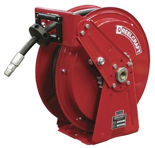 Reelcraft Heavy Duty Spring Retractable Hose Reel 3/8 x 50ft, 4000 psi, for Grease service with hose included
