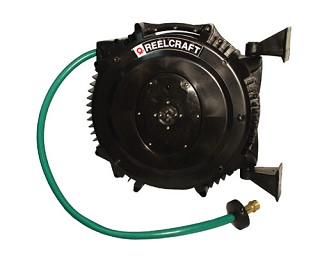 Reelcraft Poly SG Retractable Hose Reel 1/2 x 50ft, 125 psi, for Water With Hose