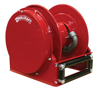 Reelcraft Low Profile Spring Retractable Hose Reel 1 x 35ft, 39 Hg, for Vacuum Recovery service - hose not included