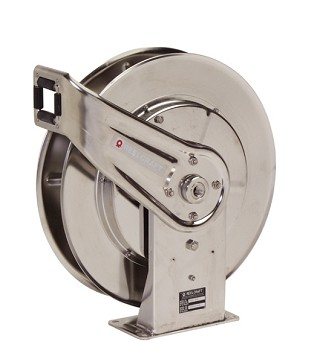 Reelcraft Spring Retractable Hose Reel 1/2 x 50ft, 500 psi, Stainless Steel for Air & Water service - hose not included