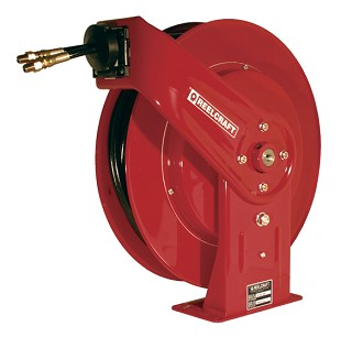Reelcraft Spring Retractable Hose Reel 1/4 x 45ft, 2000 psi, for use with Twin Line Hydraulic Hose - hose included
