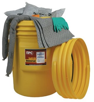 Drum Spill Control Kit for oil or water based liquid or chemical spill - 75 gallon absorbtion