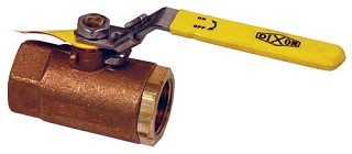 Safety Vented Ball Valves - brass - 1-1/4 inch female NPT - lockable design