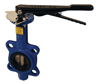 Butterfly Valve Wafer Style 4 inch size with stainless steel disc and BUNA-N seals